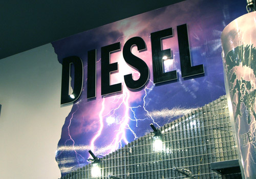 Example of Retail Graphics for Diesel shops in Scotland