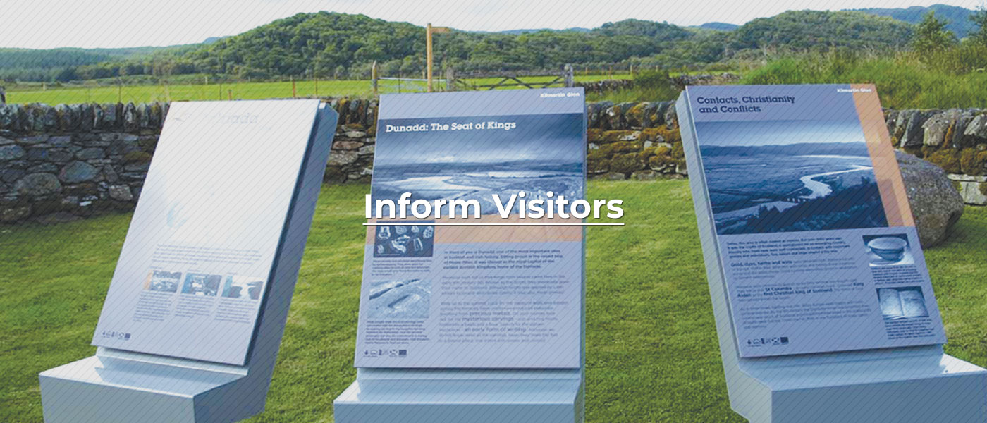 Inform Visitors with our wayfinding retail signage